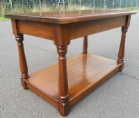 Antique Style Two Tier Mahogany Coffee Table